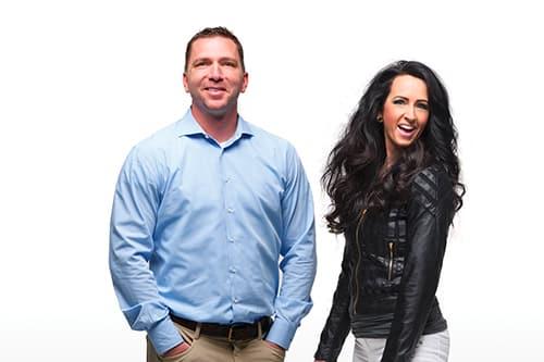 Derek Maxfield and Melanie Huscroft